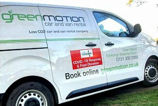 Green Motion Car Rental Charity Leicester South Food Bank 2020 326x220