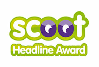 Green Motion Car Rental Scoot Headline Awards Logo 326x220