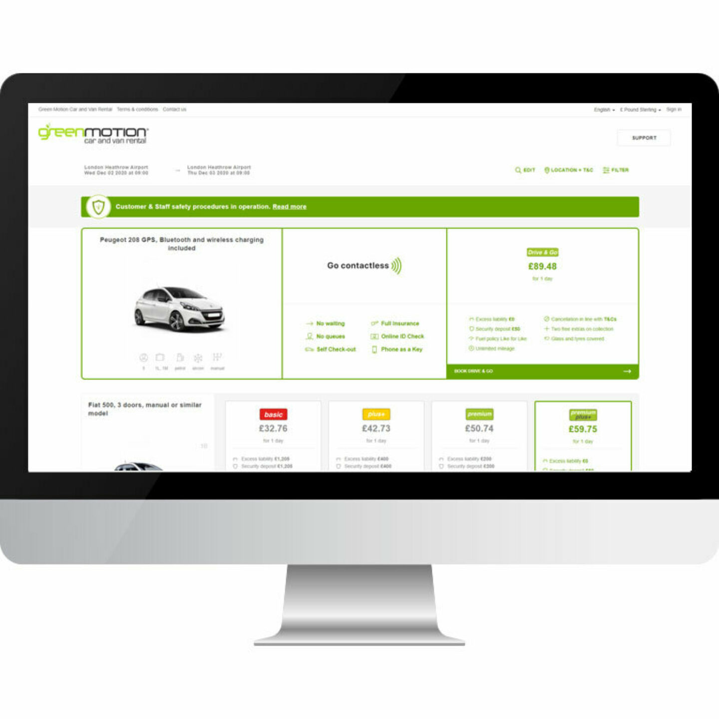 IT Green Motion Car Rental Contactless Website Booking 767x767