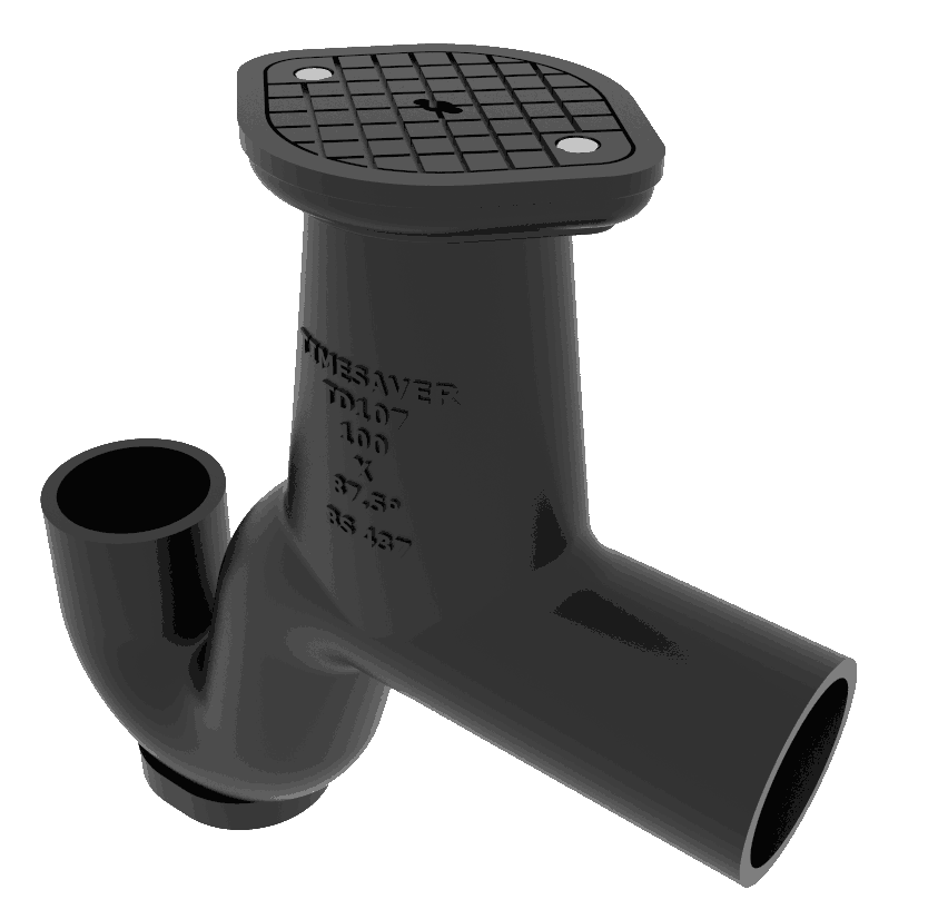 Timesaver TD107 87 1/2° Gully trap with surface access