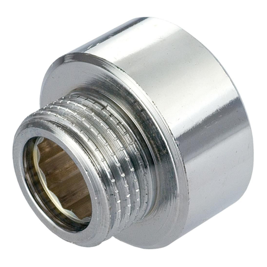 1/2x3/8 Inch Pipe Thread Reducer Connection Female x Male Fittings Chrome