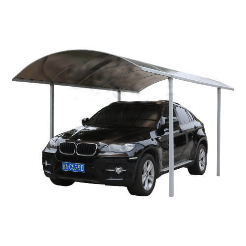 Typhoon Haveno Carport - 5mtr Length x 3mtr Width With Silver Frame