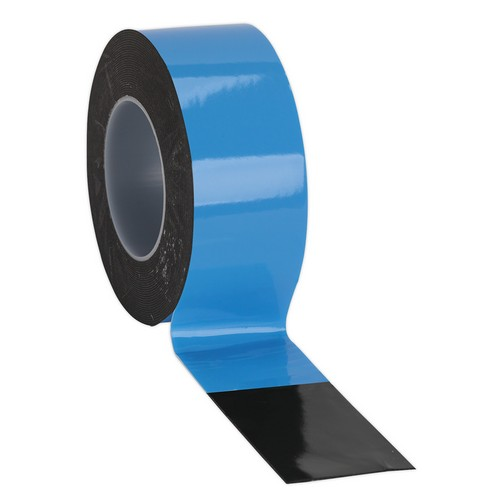 Sealey DSTB505 Double-Sided Adhesive Foam Tape 50mm X 5 Metre Blue Backing