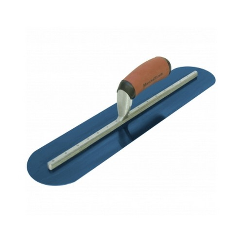 Marshalltown MXS64BRD Finishing Trowel 14inch X 4inch Blue Steel Rounded Ends Durasoft Handle