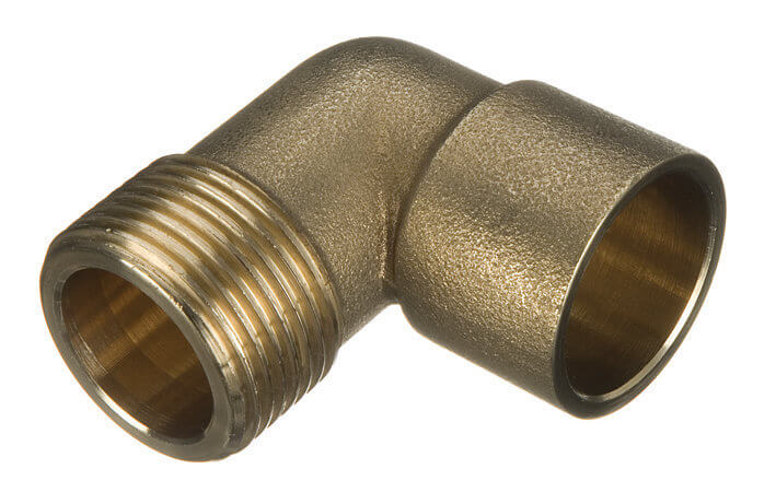 Endfeed Male Iron Adaptor Bent - 22mm x 3/4andquot;