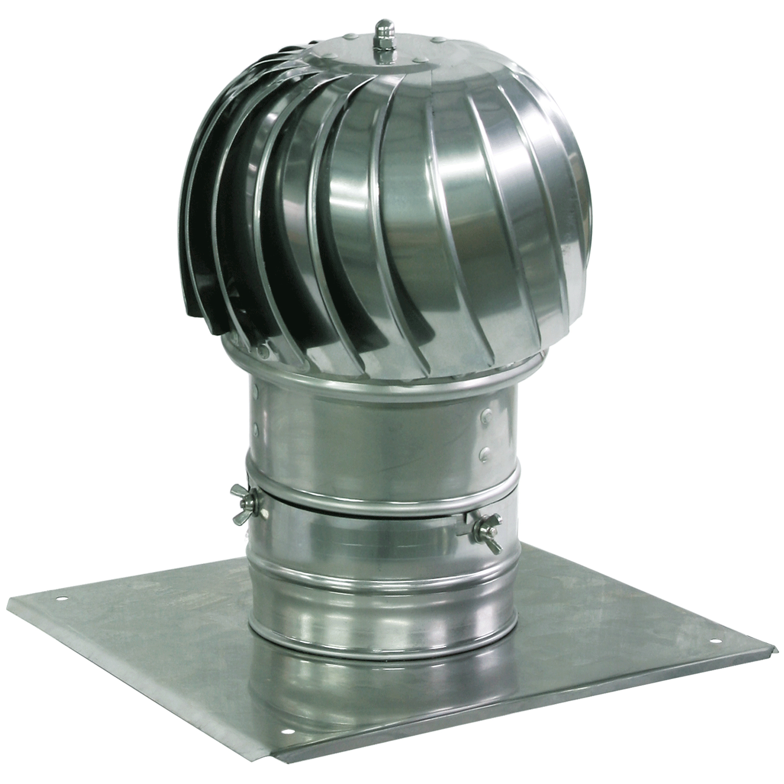 300mm Spinning Chimney Cowl With Roof Plate Aluminum Ventilation