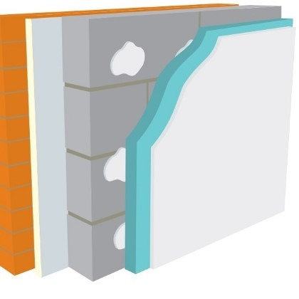 Warmline XPS Insulated Plasterboard 2400mm x 1200mm x 45mm SE - Pallet of 22 (63.36m2)