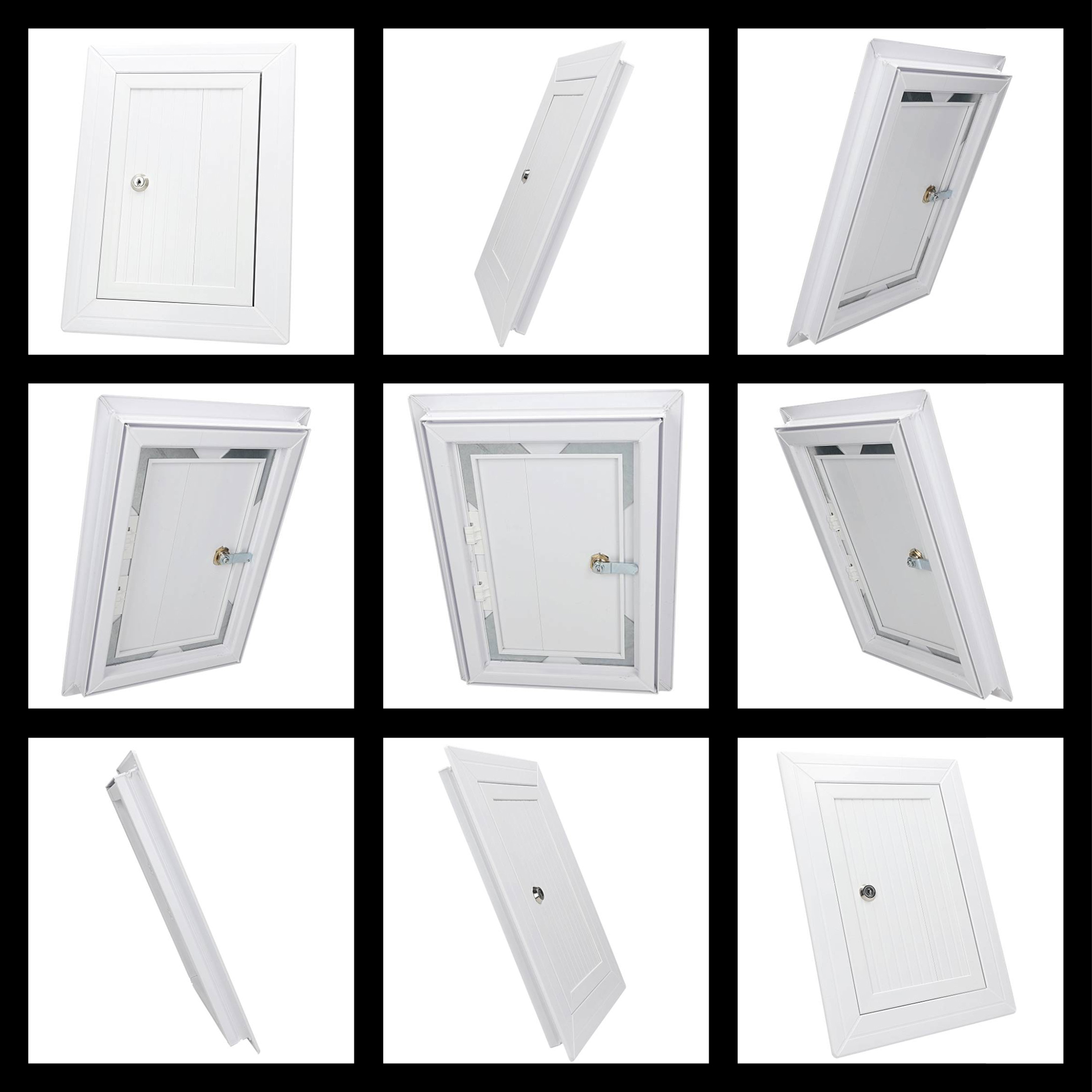 250x400mm White PVC Chamber Cover Inspection Hatch Door Access Panel Grille