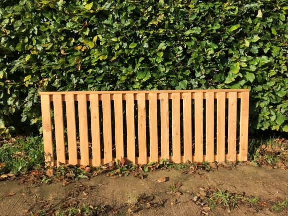 44mm Thick Siberian Larch Solid Capped Fencing Panel A Grade  Vertical Battens