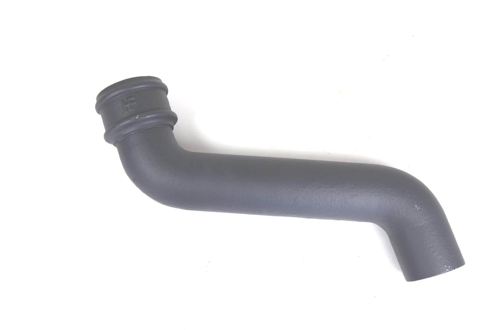 Cast Iron Round Downpipe Offset - 305mm Projection 100mm Primed