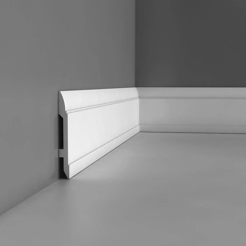 Skirting Luxxus Collection - 2000mm x 150mm x 15mm White