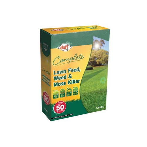 DOFF LM050 Complete Lawn Feed, Weed & Moss Killer 1.6kg