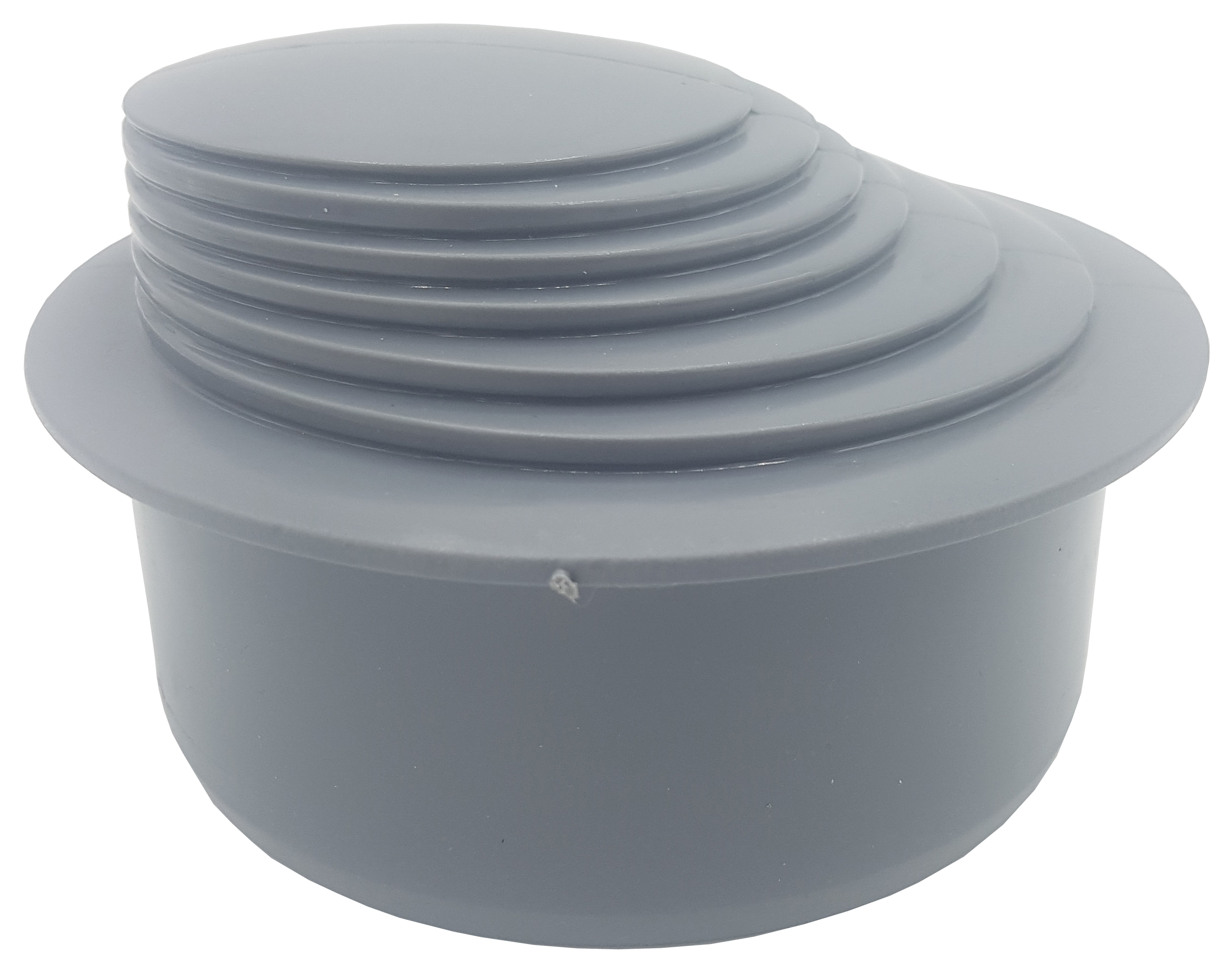 Grey Colour Gutter Down Pipe Reducer 110mm to Any Size Reduction Guttering