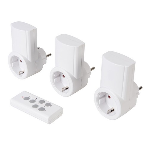 PowerMaster 708429 Wireless Remote Control Power Socket Pack Of 3 EU 13A 240V