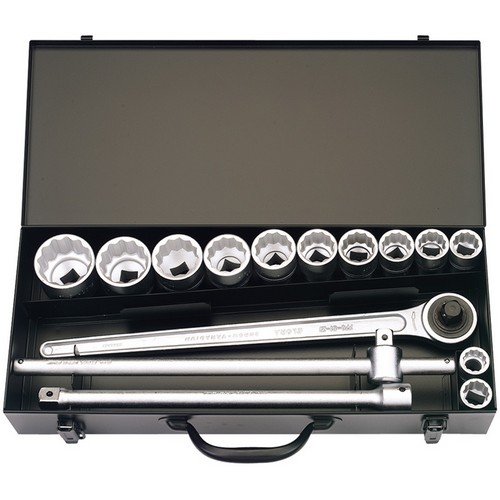 Elora 00369 15 Piece 3/4inch Square Drive Imperial Socket Set