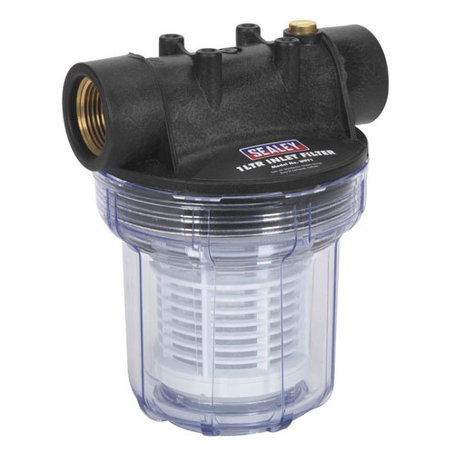 Sealey WPF1 Inlet Filter For Surface Mounting Pumps 1ltr