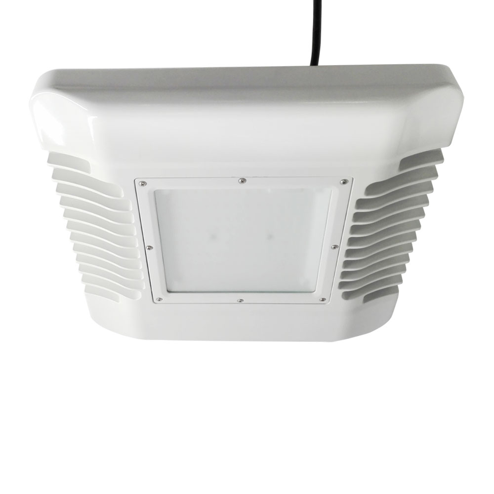100W CANNOPY LIGHTS 5700K, Samsung 2835 120PCS led, SS 1-10V Dimmable driver, Frost Glass Cover, 120LM/W, 5 Years Warranty
