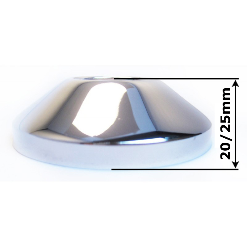 3/4 Inch x 25mm Pipe Cover Collar Cone Chrome Plated Steel Valve Tap Rose
