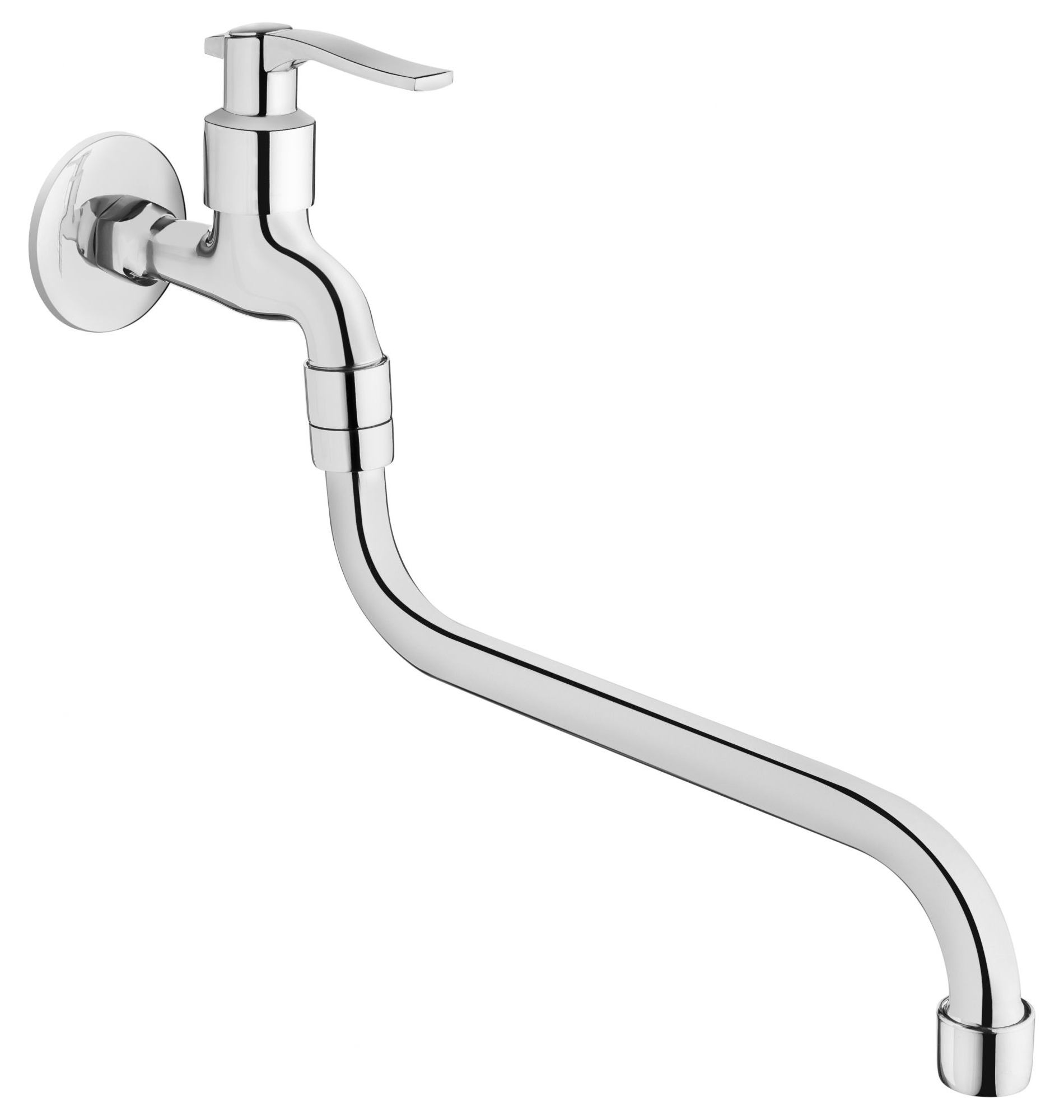 1/2 Inch Water Garden Outdoor Tap Chrome Plated with Very Long Spout