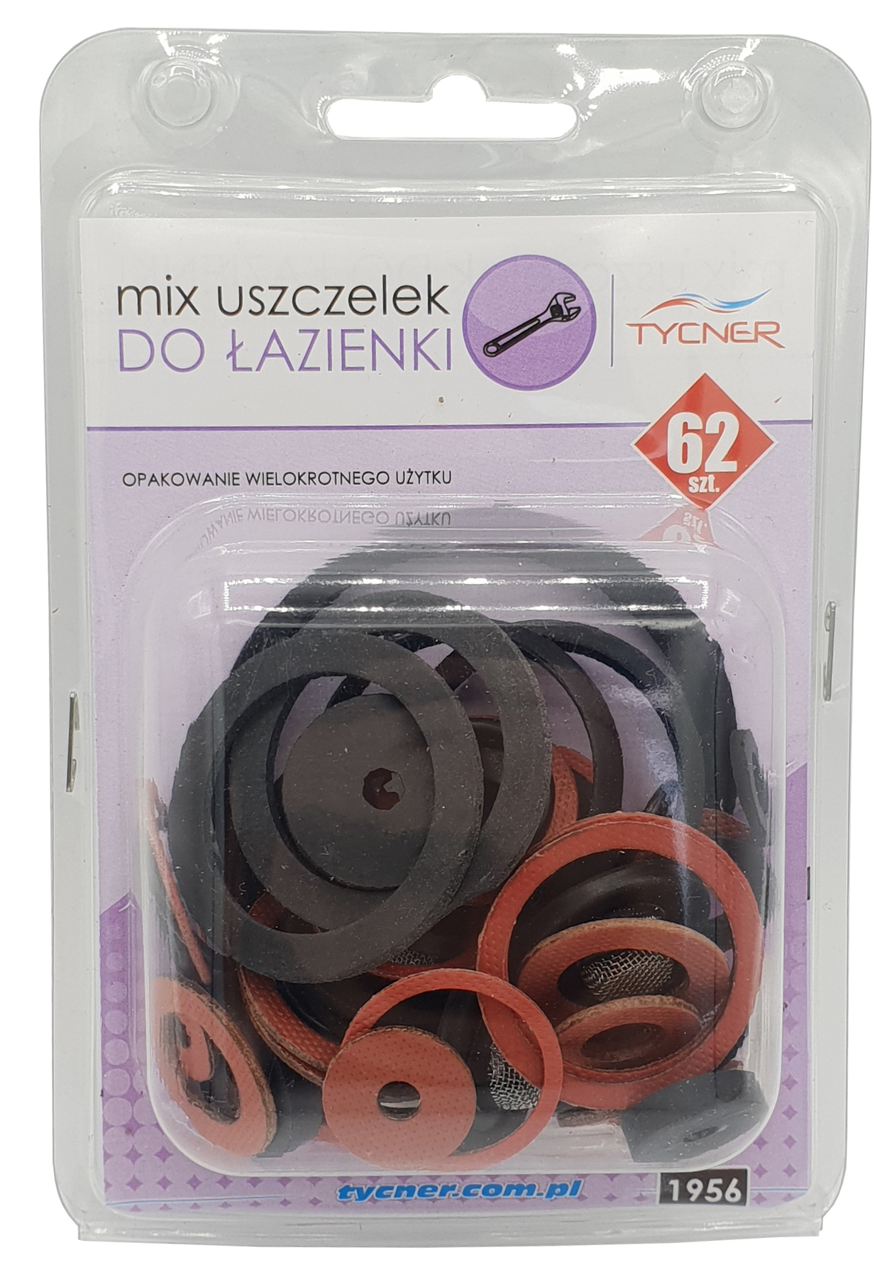 62 pcs of Bathroom Gaskets Universal Rubber Fibre Washer Set Various Sizes Types