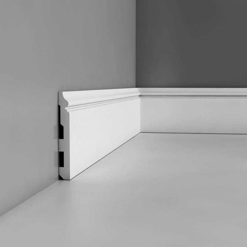 Skirting Luxxus Collection - 2000mm x 140mm x 18mm White