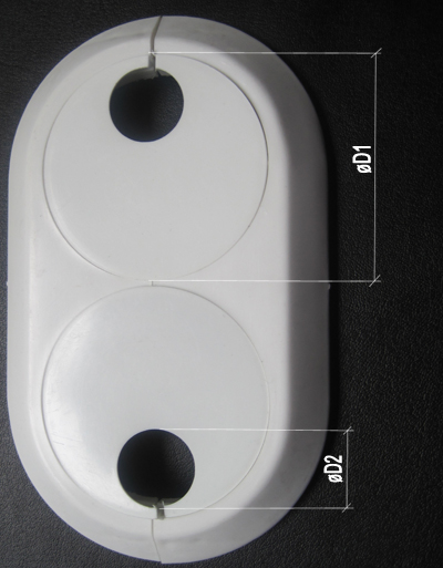 22mm Double Pipe Cover PVC White Radiator Plastic Water Collar Rose