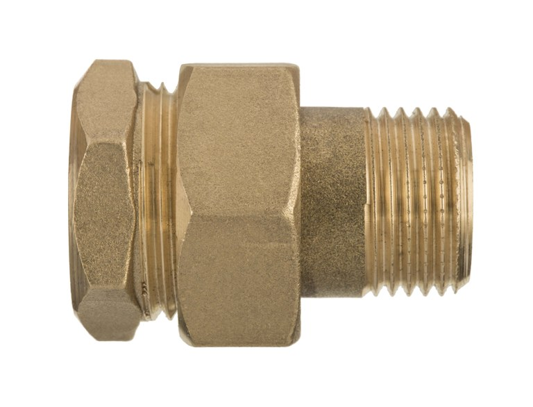 3/4 Inch Pipe Coupler Fittings Female x Male Brass Joint Union