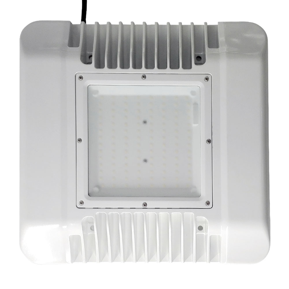 150W CANNOPY LIGHTS5700K, Samsung 2835 180PCS led, SS 1-10V Dimmable driver, Frost Glass Cover, 120 LM/W, 5 Years Warranty