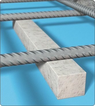 Concrete Square Bar Spacers 1000mm x 30mm x 30mm