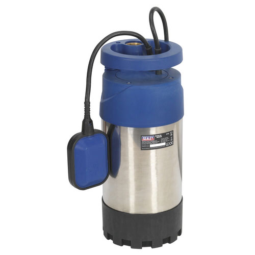 Sealey WPS92A Submersible Stainless Water Pump Automatic 92ltr/min 40mtr Head 230V