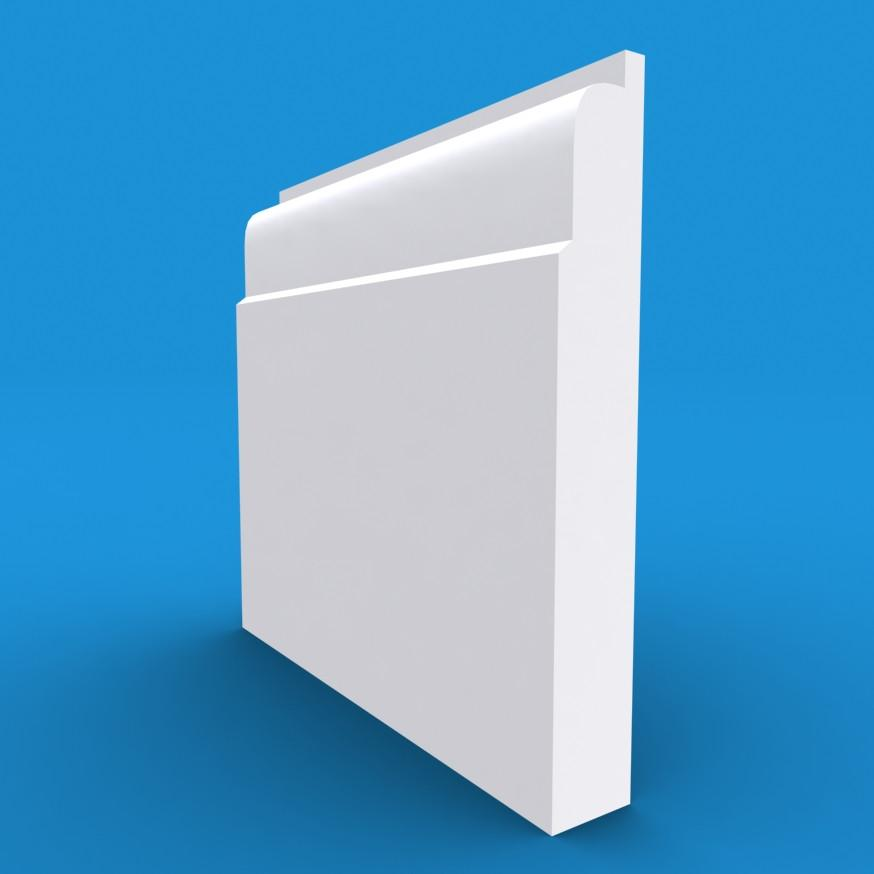 Lambs Tongue MDF White Primed Architrave 4200mm x 95mm x 18mm