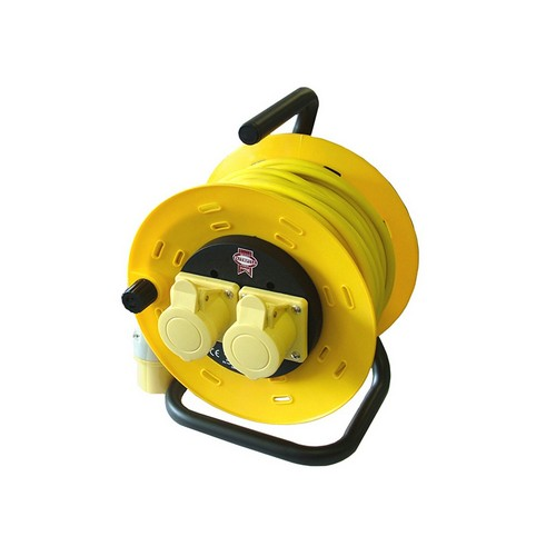 Faithfull FPPCR50ML Cable Reel 50 Metre 16amp 1.5mm Cable 110 Volt