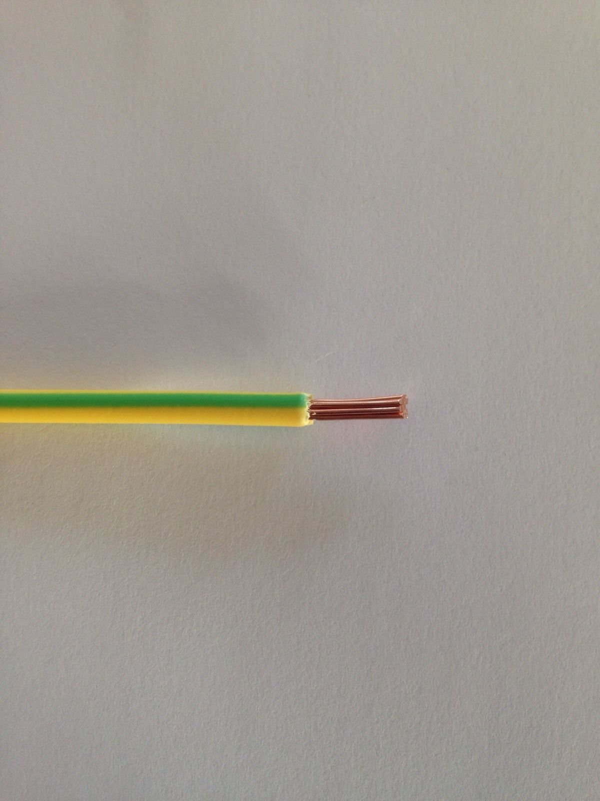 6mm Green & Yellow Earth Cable Earth Bonding Cable - Price Per Metre