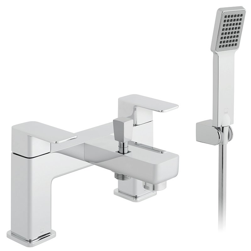 Vado Phase 2 Hole Bath Shower Mixer Single Lever Deck Mounted With