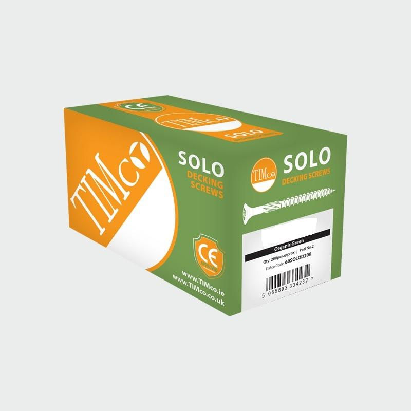 TIMco 4.5 X 70 Solo Green Countersunk Decking Screw Qty 200