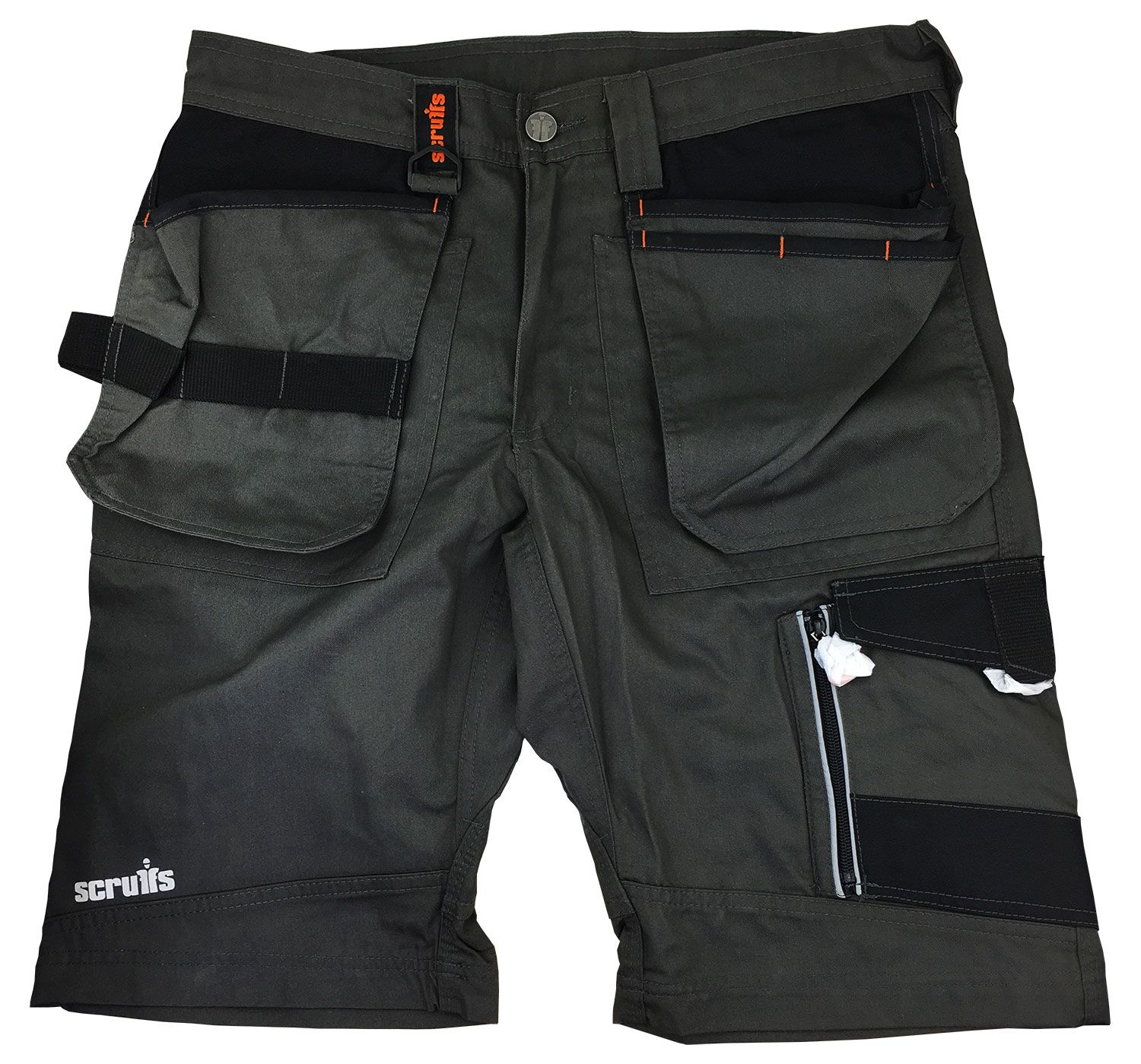 Scruffs Trade Work Shorts Slate Grey with Multiple Pockets