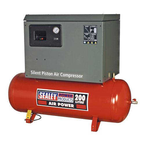 Sealey SAC2203BLN 200ltr Belt Drive Compressor 3hp With Cast Cylinders Low Noise