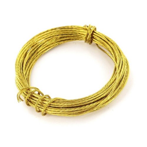 Securit S6216 Picture Wire Brass 3.5 Metre Pack Of 1