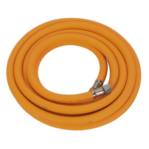 Sealey AHHC5 Air Hose 5 Metre X 8mm Hybrid High Visibility With 1/4inchBSP Unions