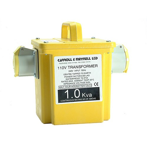 Carroll & Meynell 2250/2 Transformer Twin Outlet Rating 2.25Kva Continuous 1.125kva