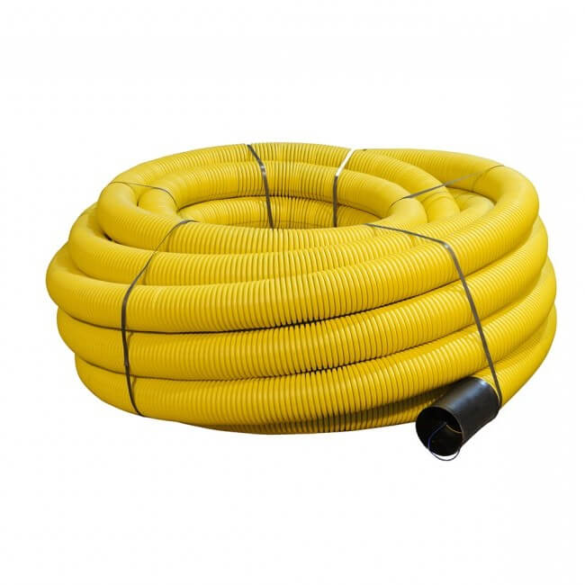 Flexi Duct Unperforated - 63mm (O.D.) x 50mtr Yellow Coil