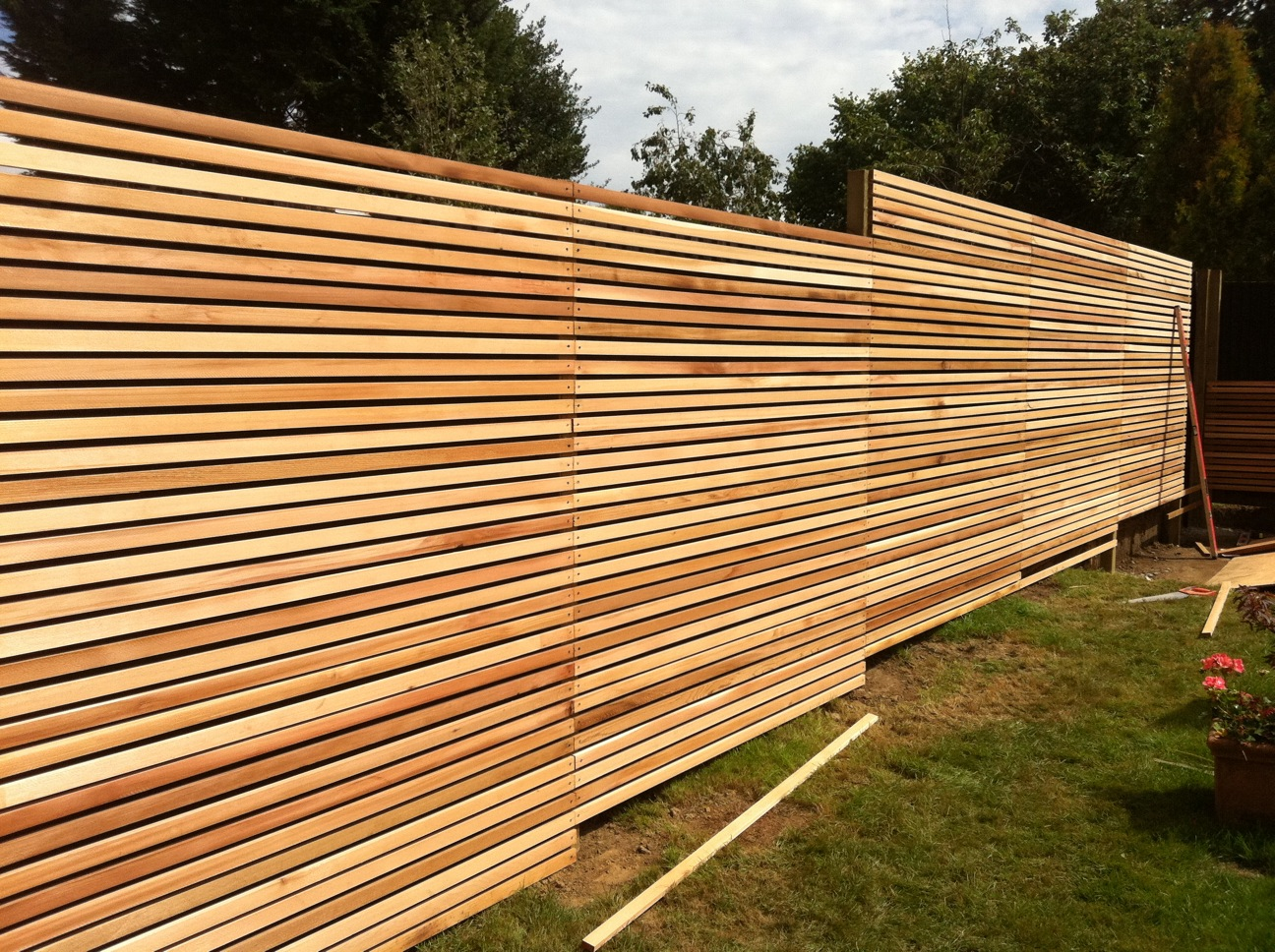 A Grade Siberian Larch Square Edge Cladding/Fencing Battens 22mm Thick