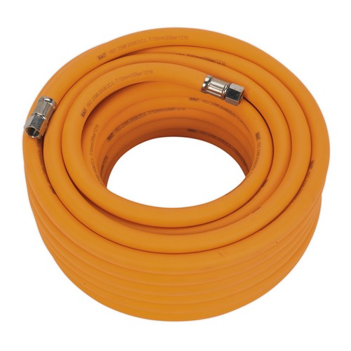 Sealey AHHC1538 Air Hose 15 Metre X 10mm Hybrid High Visibility With 1/4inchBSP Unions