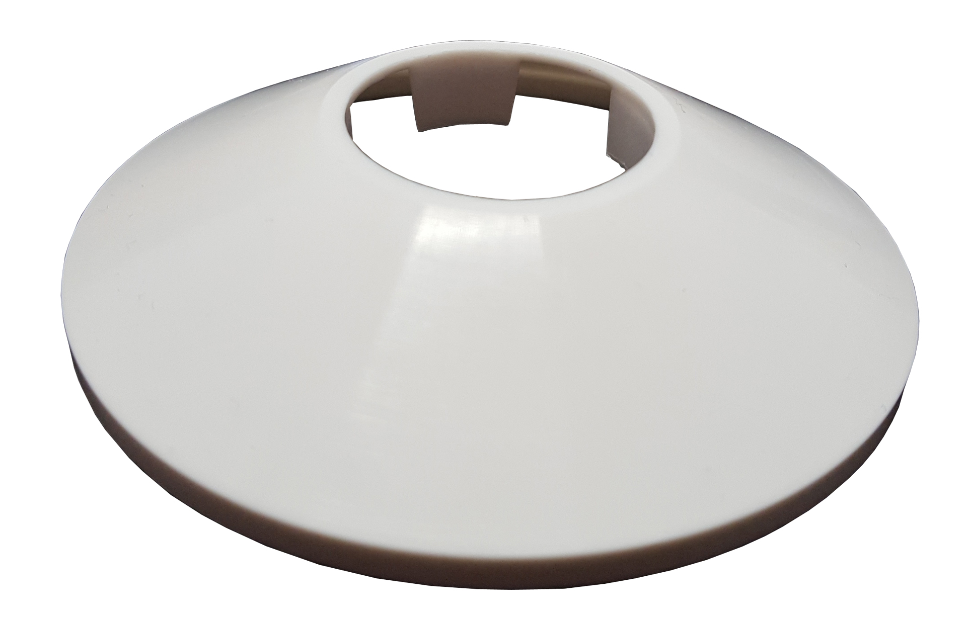 32mm White Cone Shaped Collar Rose Cover for Pipe Holes Gaps Hiding