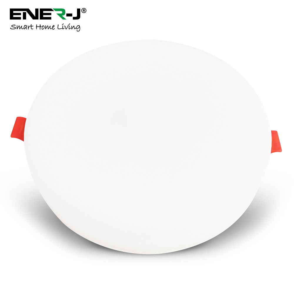 12W Frameless Recessed-Surface Super LED Panel, 105mm, Round, 3000K (pack of 4)
