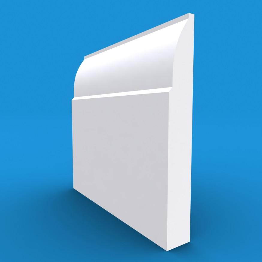 Ovolo MDF White Primed Architrave 4200mm x 70mm x 18mm