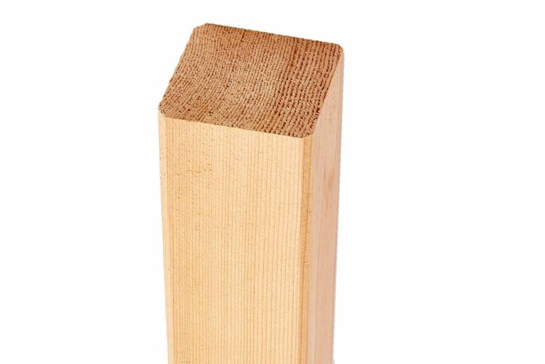 Siberian Larch Fence Square Post 95mm