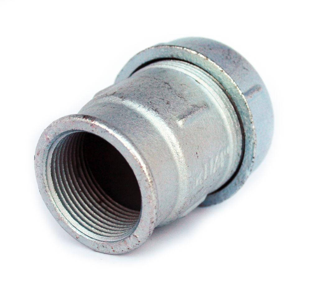 1 1/2 Inch x 50mm Pipe Compression Joint Fittings Female Thread Connector Union