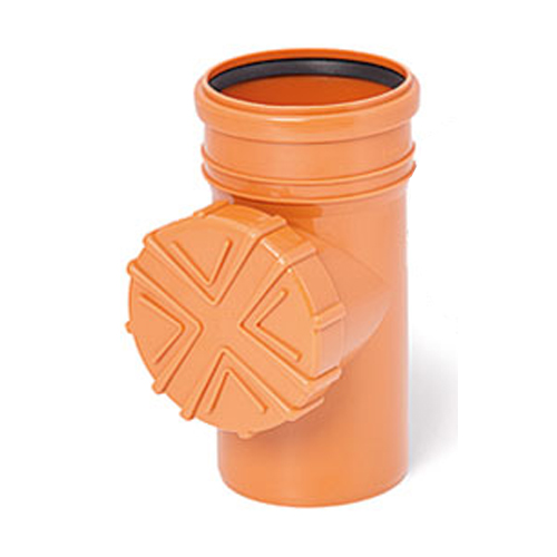 110mm Orange Gutter Pipe Flush System Cleanouts with Strainer
