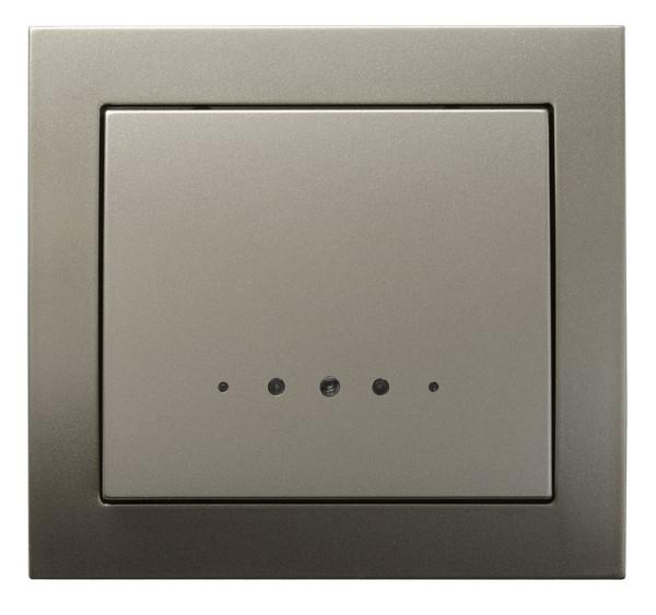 Light Satin with Light Single Button Indoor Light Switch Click Wall Plate